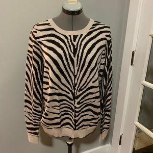 MICHAEL Michael Kors zebra print sweater, Sz L